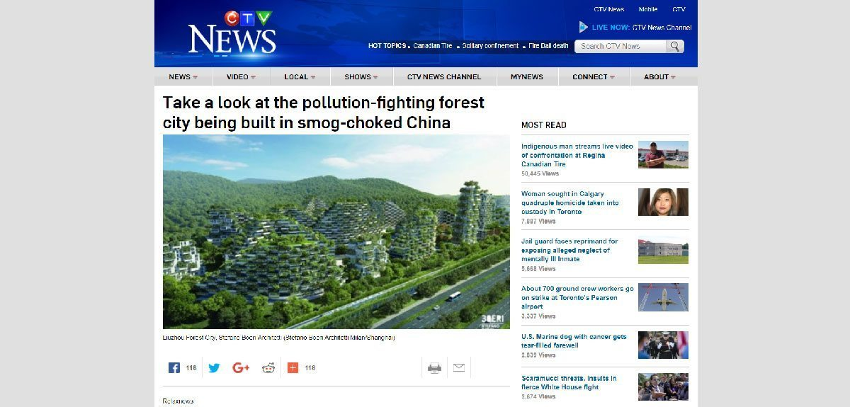 CTVNEWS CA   POLLUTION-FIGHTING LIUZHOU FOREST CITY
