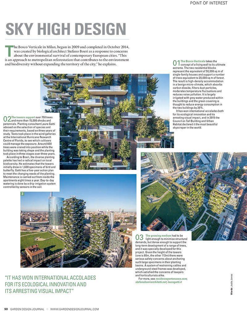 Garden design journal the making of bosco verticale for Garden design journal