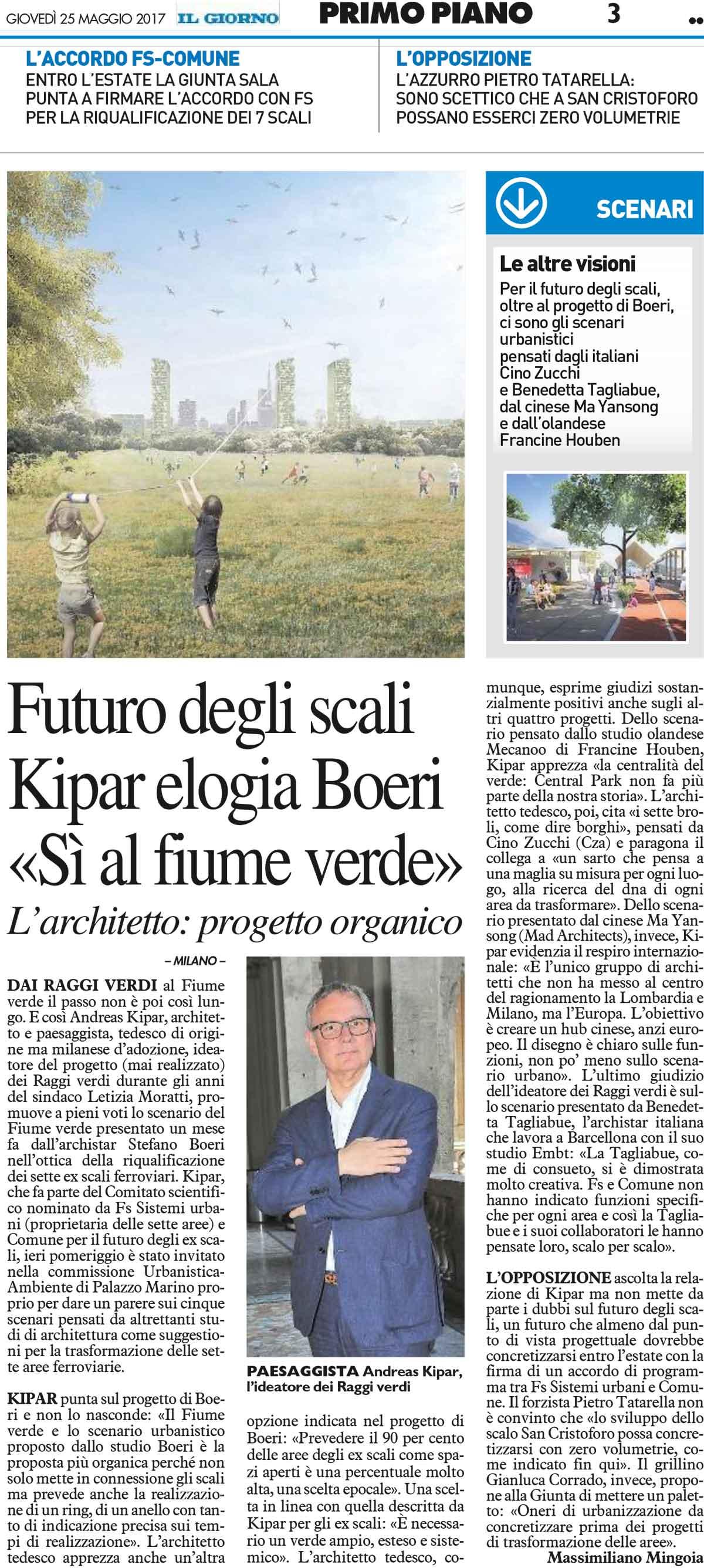 Studio La Sala Milano il giorno | the future of the rail yards | stefano boeri