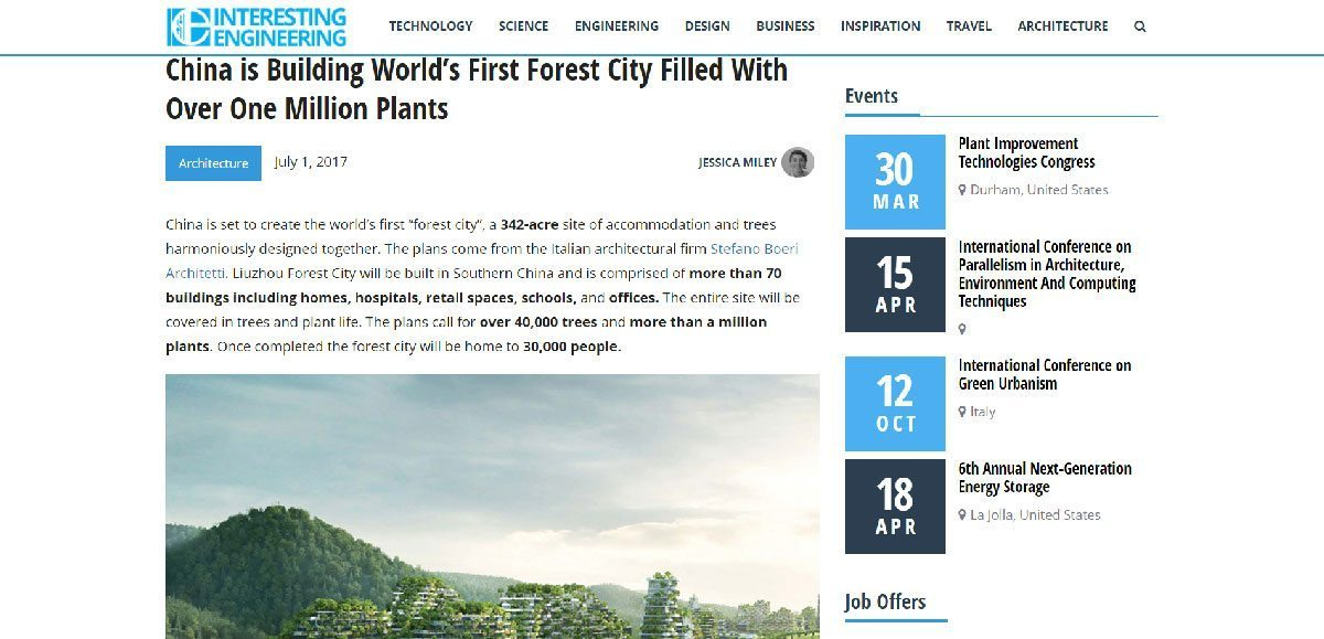 interestingengineeringcom a city filled with over one million plants