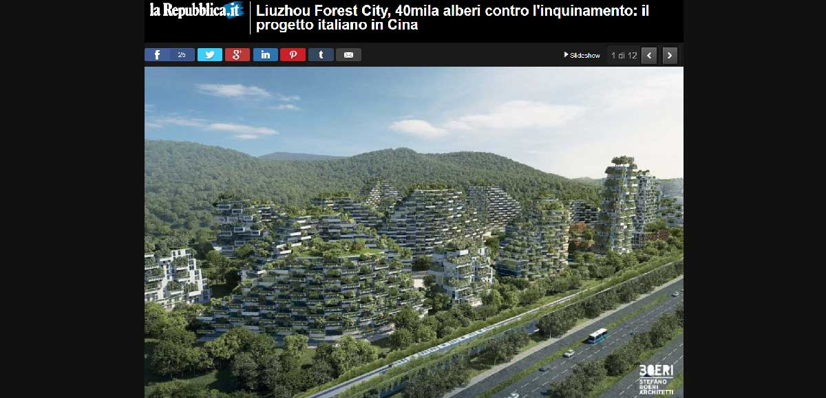 Repubblica it liuzhou forest city is the first anti smog for Liuzhou forest city