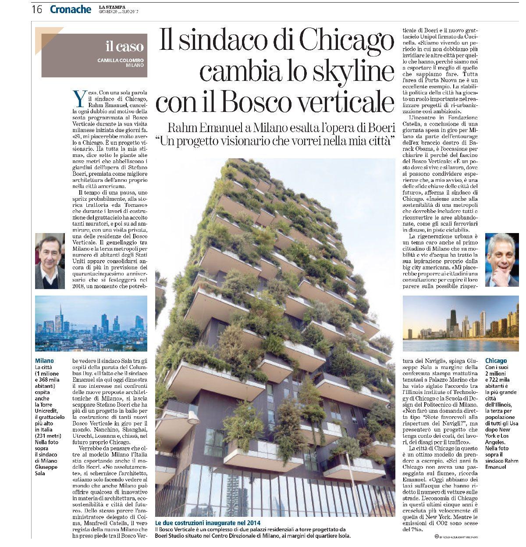 Studio La Sala Milano la stampa | mayor of chicago changes the skyline with the