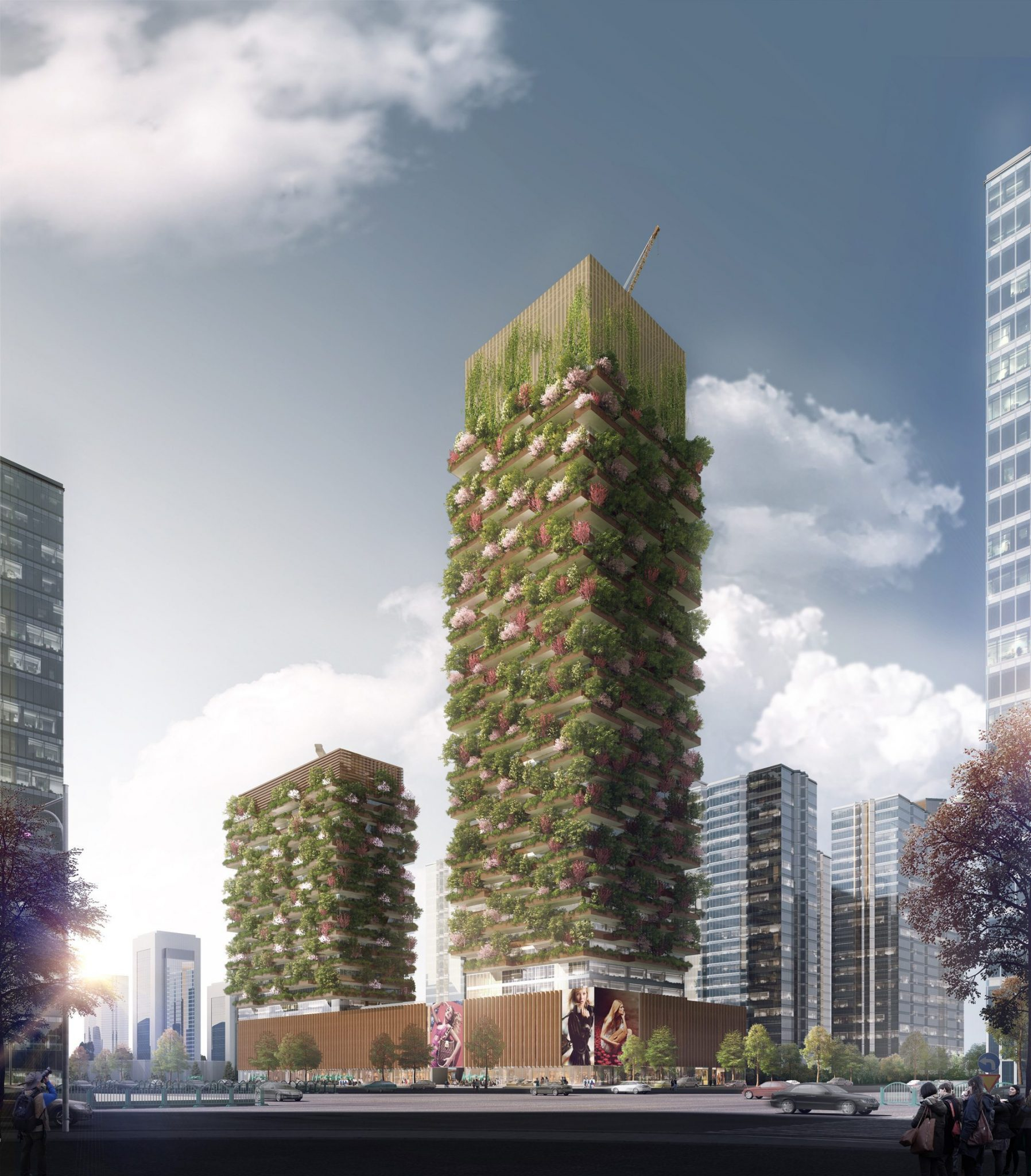 Jardins verticaux - Nanchino, Jiangsu, Chine architecture 4 architecture Leaders That Will Change the World Nanjing Vertical Forest Stefano Boeri Architetti 1