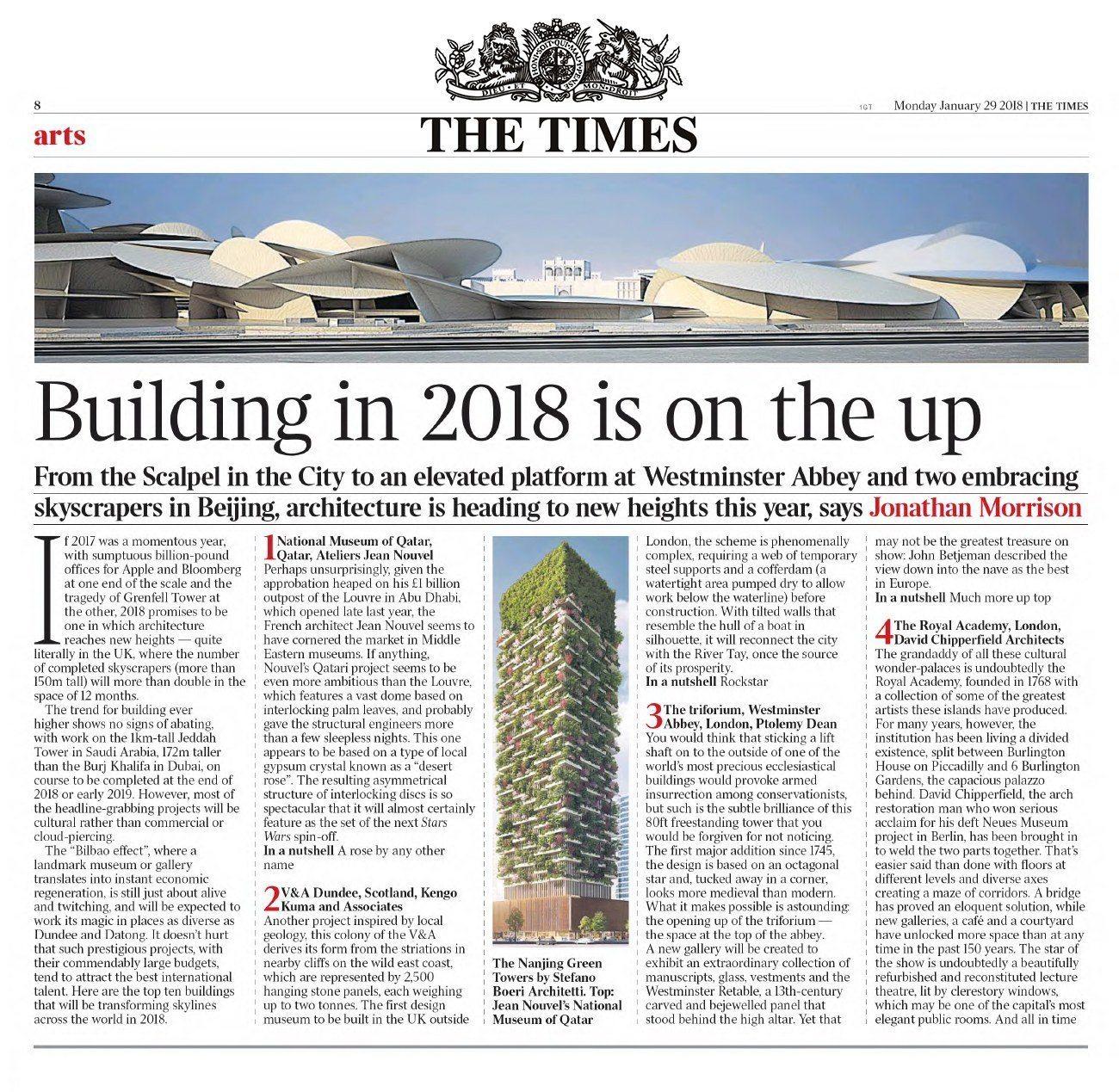 Lavorare In Qatar Architetto the times | l'architettura in prima linea nel 2018 | stefano