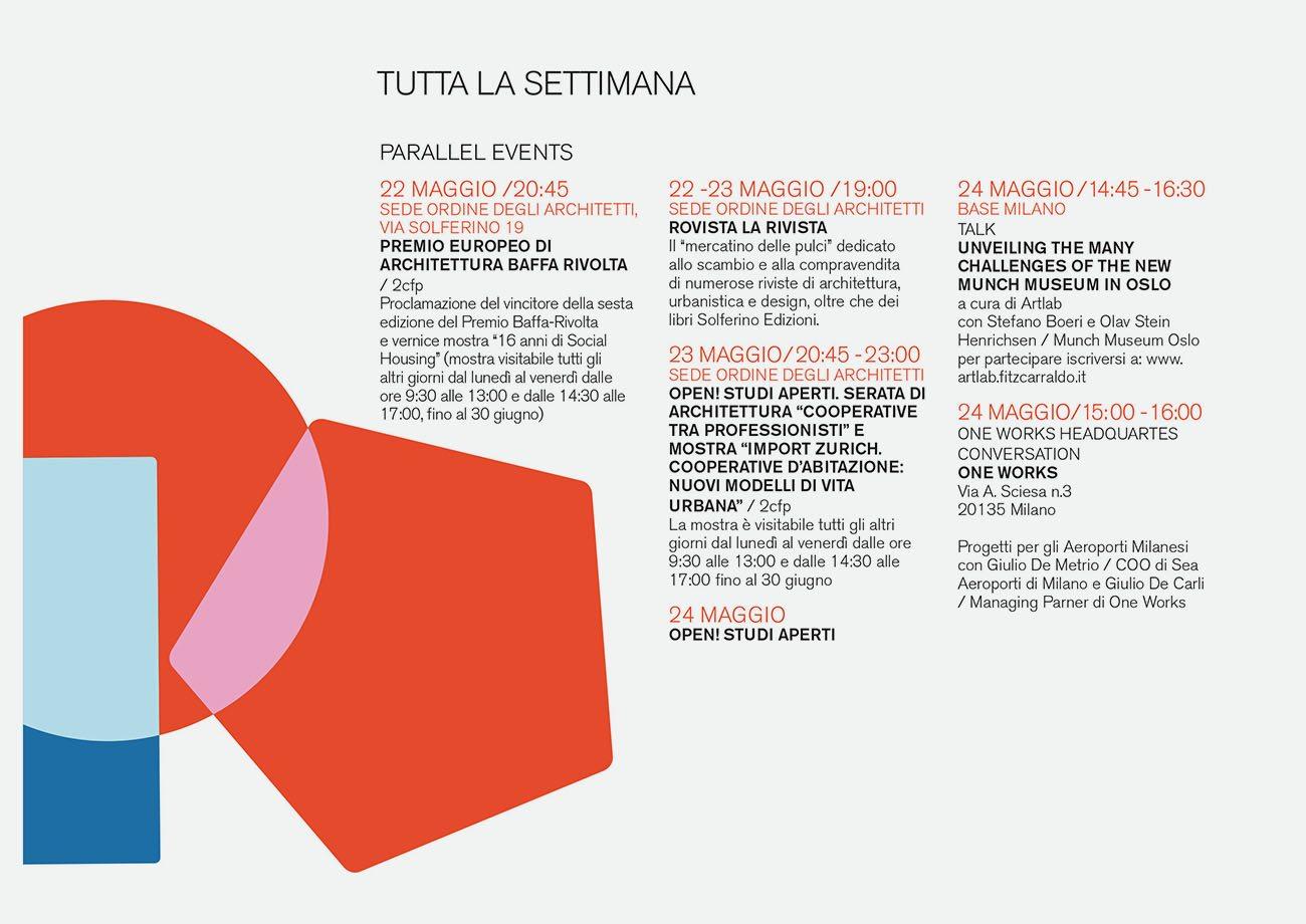 milano arch week | the program | Stefano Boeri Architetti