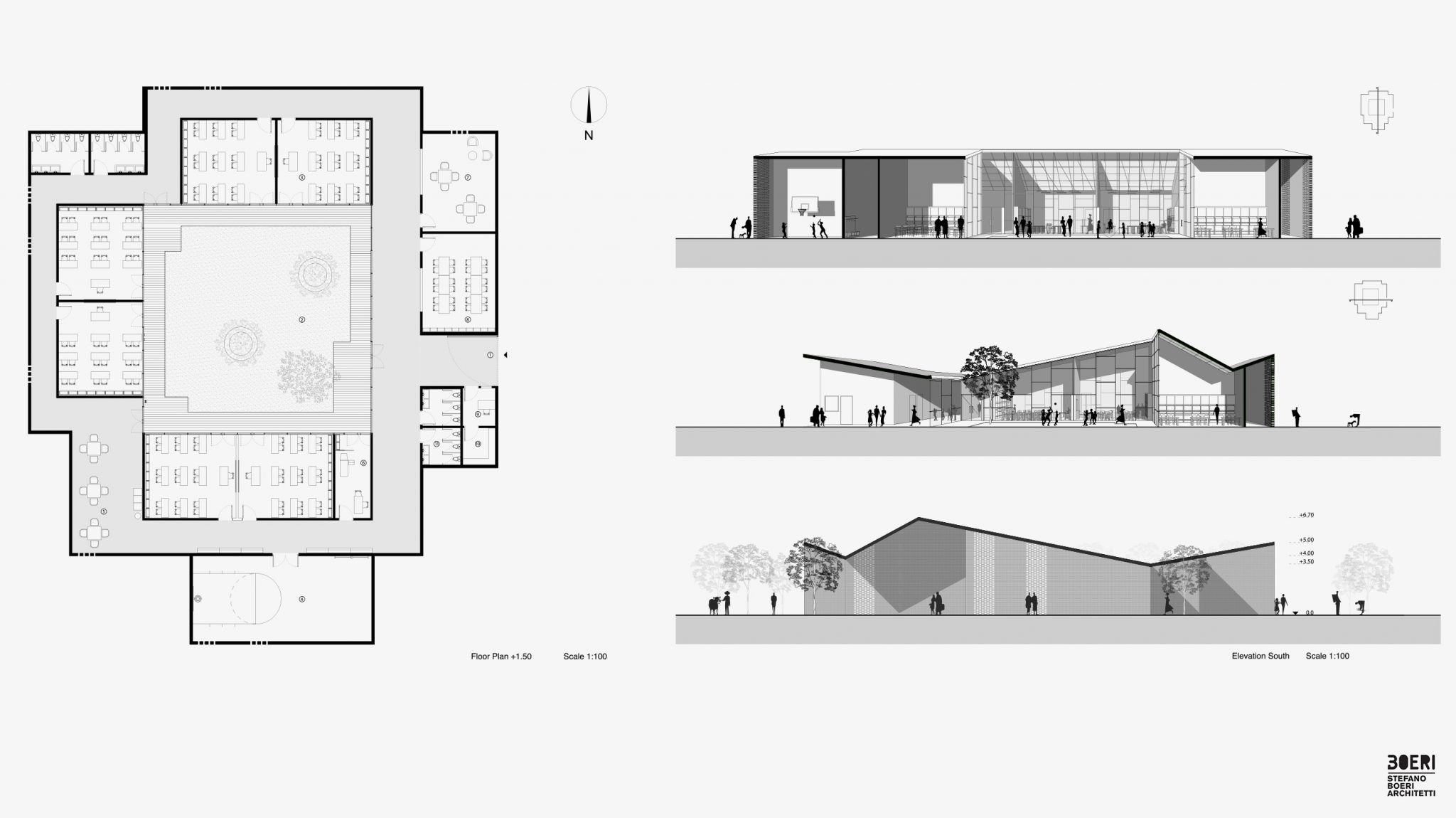 Plan And Elevation Cuisine : Seeds of culture slow village stefano boeri architetti