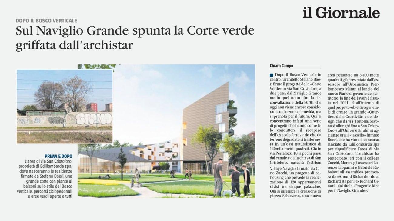 Il Giornale_Corte Verde_Stefano Boeri Architetti
