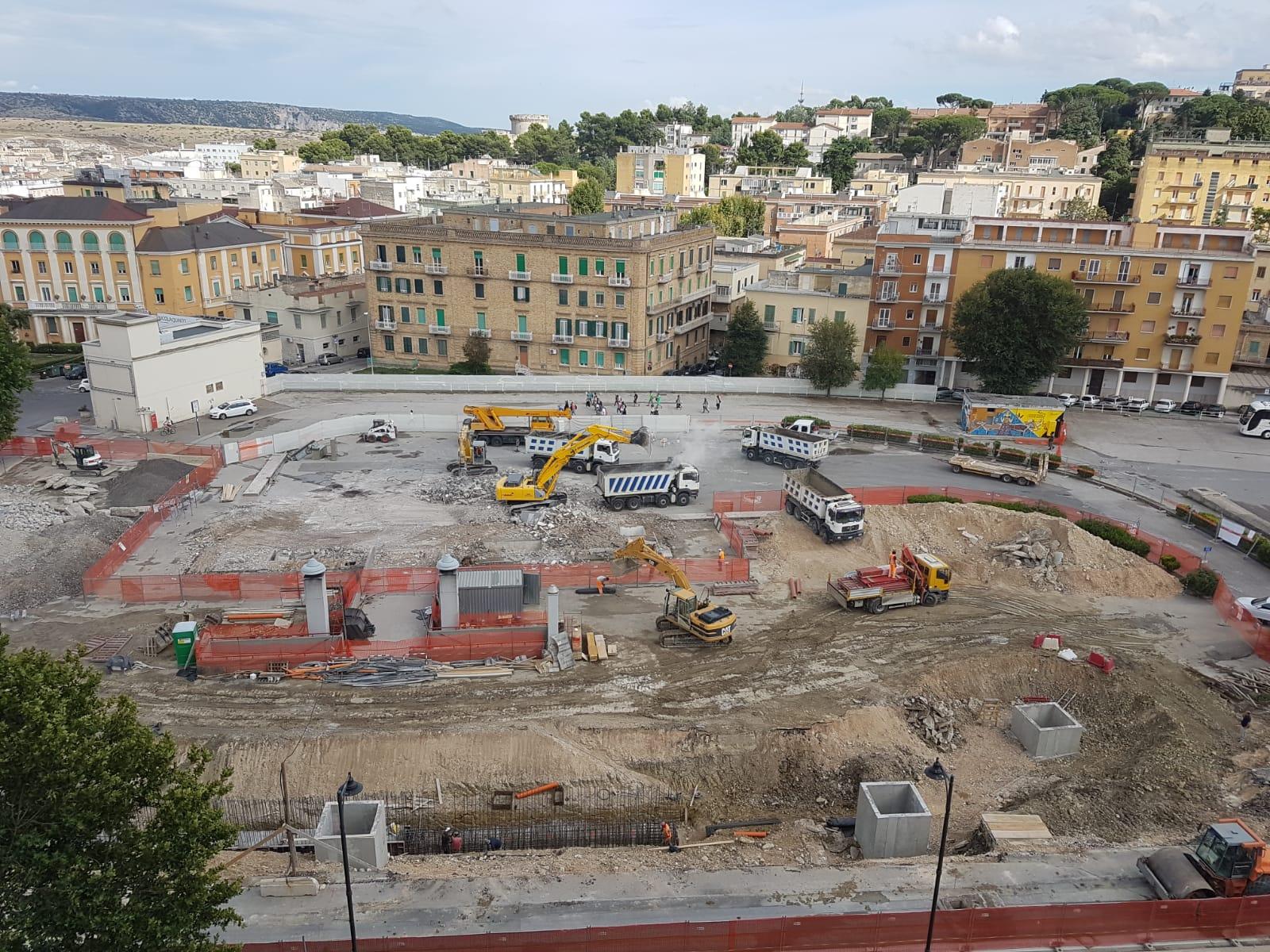 MATERA Centrale_Aggiornamento cantiere 6 agosto_bird view