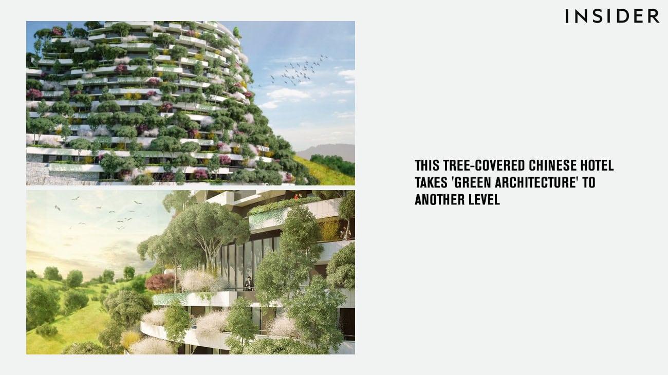 La Torre Dei Cedri A Losanna : Insider un hotel coperto di alberi in cina porta l