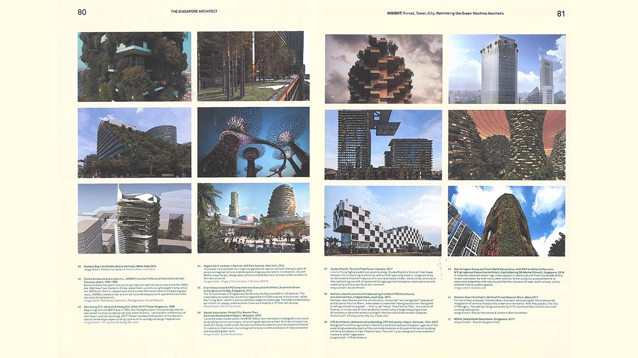 the singapore architect | forest, tower, city | Stefano