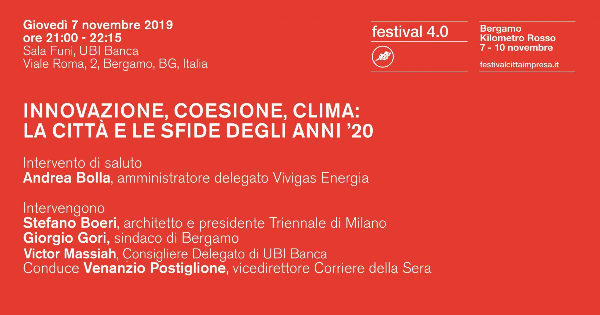 Architetti A Bergamo 4.0 festival | cittàimpresa | stefano boeri architetti