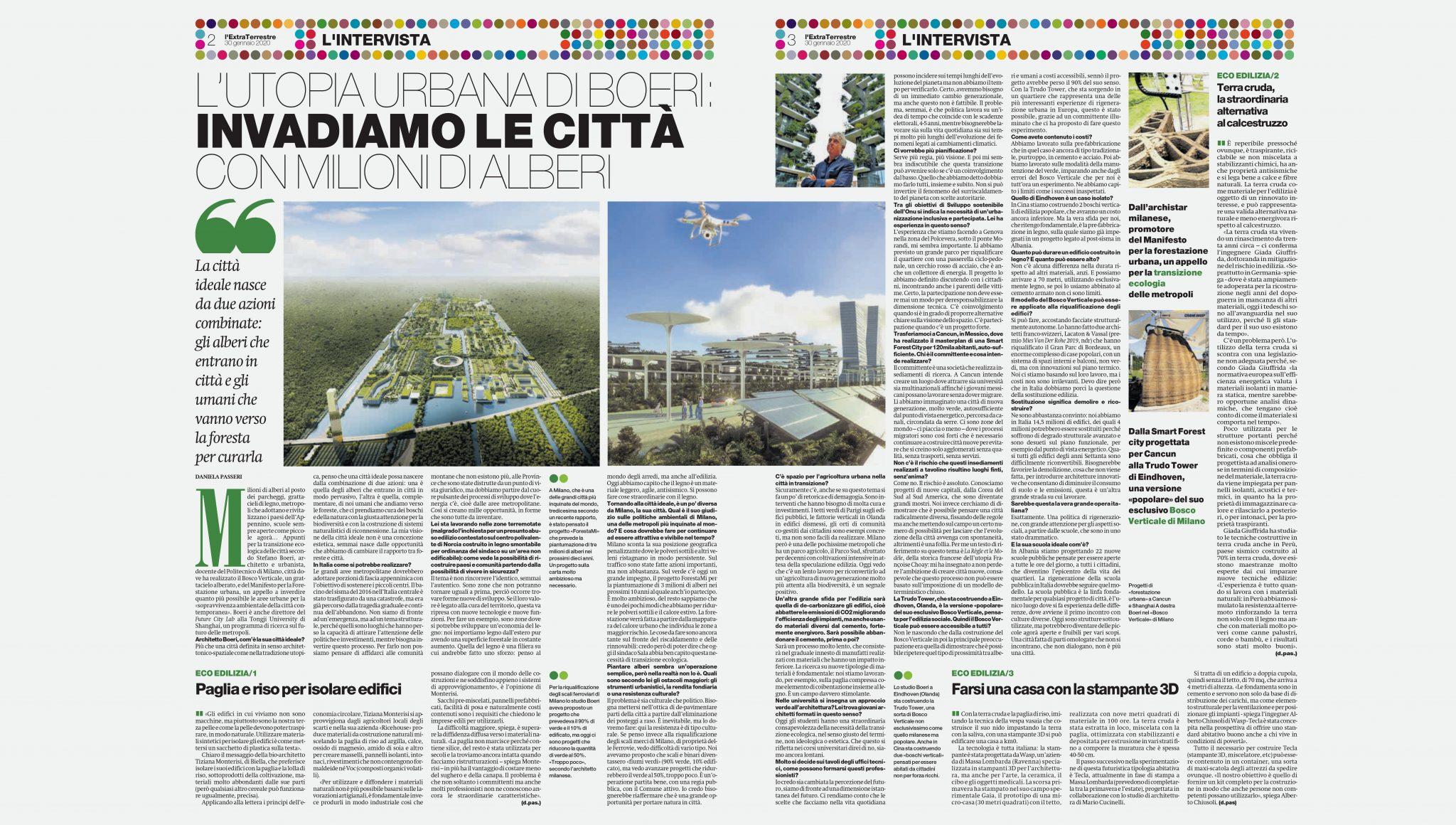 Isolare La Casa Basaluzzo il manifesto | smart forest city of cancun | stefano boeri